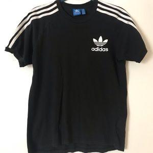 Adidas three stripe trefoil tee